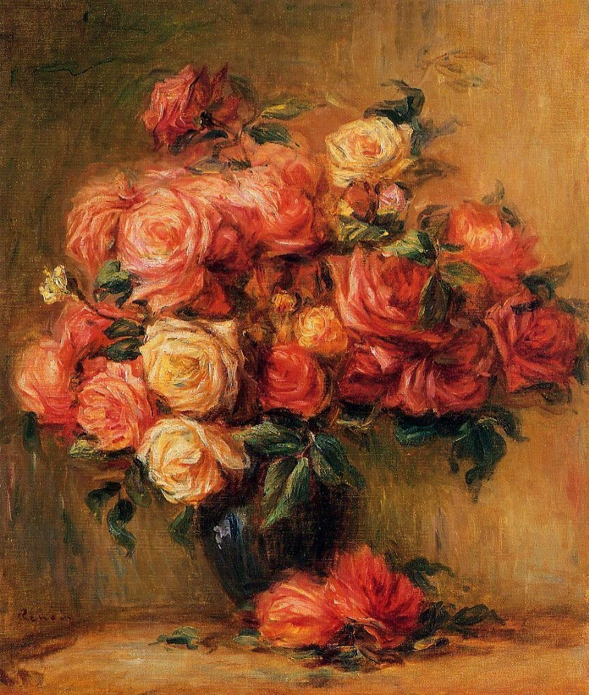 A bouquet of roses, 1890, Pierre Auguste Renoir